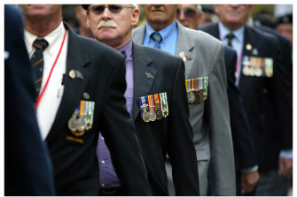 An ANZAC Day march.
