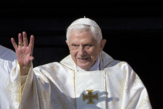 Pope Benedict pictured in St Peter's Square in 2014.