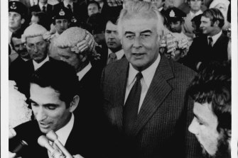 Gough Whitlam on the day of the dismissal, November 11 1975