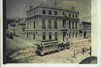 Sydney's first tram ran along Pitt Street in 1861.