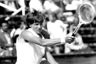 Margaret Court in action on December 22, 1974.