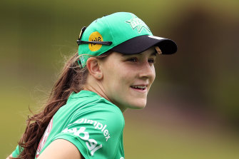Annabel Sutherland is making a name for herself in Australian cricket.