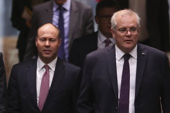 The Treasurer and Prime Minister in Parliament today.