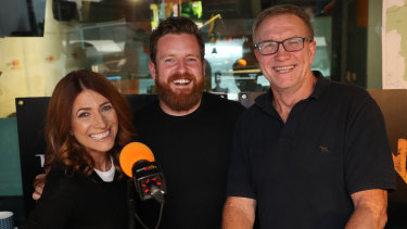 """Triple M Brisbane breakfast show will welcome Nick Cody to co-host with Robin Bailey andGreg """"Marto"""" Martin."""