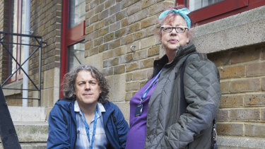 Alan Davies and Jo Brand.