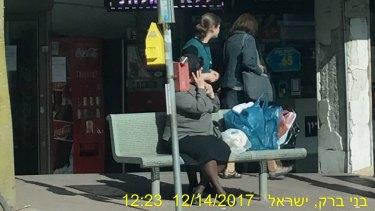 Private investigators' photograph of Malka Leifer in the Israeli city of Bnei Brak.