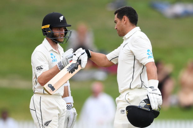 Ross Taylor (right) and Kane Williamson's Black Caps are the No.2 Test side in the world.