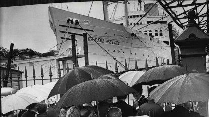 From the Archives, 1958:  Greek men swarm overdue bride ship in Melbourne