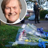 David Amess and the scene of his murder