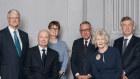 Senior board members, l-r, Michael Chaney, Gordon Cairns, Catherine Livingstone, David Gonski, Jillian Broadbent and Lindsay Maxsted.