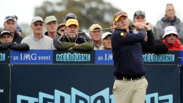 Jarrod Lyle on the golf course in Melbourne in 2013.