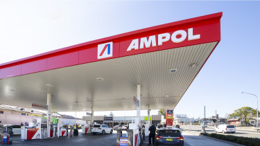 One of the first new rebranded Ampol sites in Concord, New South Wales.