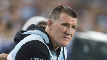 Fearful: Sharks captain Paul Gallen fears for his daughters as they grow up.