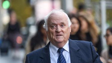 Former Victoria Police anti-corruption investigator Terry Purton on Tuesday.