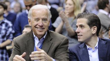 Former vice-president Joe Biden and his son, Hunter.