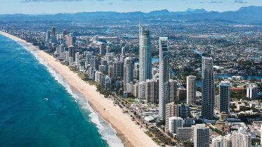 Police say the girls met the men on Surfers Paradise beach.