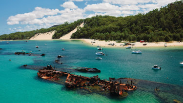 Moreton Island was recently reopened to the public as part of the relaxed new movement rules.