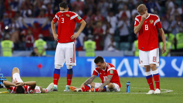 Russia, the lowest-ranked team in the World Cup, already surpassed expectations by reaching the last eight.