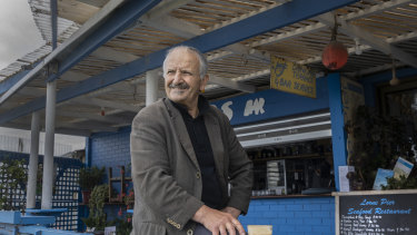 Restaurant owner Spiros Gazis has run his business for more than 25 years.