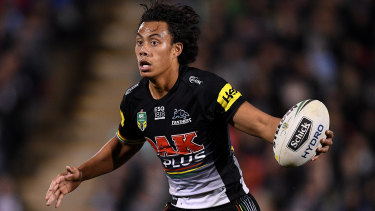 Staying put: Jarome Luai looks set to remain at the Panthers.