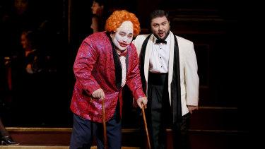 Amartuvshin Enkhbat as Rigoletto and Liparit Avetisyan as Duke of Mantua.