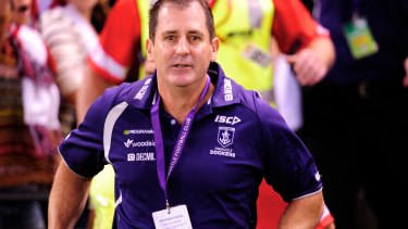 Ross Lyon during his Fremantle days.