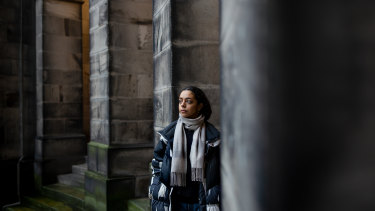 Dalia Al-Dujaili, a student at the University of Edinburgh, on campus in Scotland.