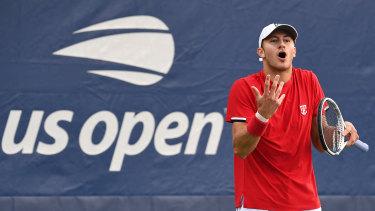 Brayden Schnur at the US Open in 2019.