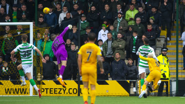 'It just goes blank': Dykes heads home to seal a famous victory for Livingston against Celtic last month.
