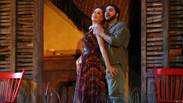 Sian Sharp as Maddalena and Liparit Avetisyan as Duke of Mantua.
