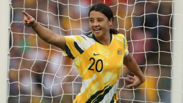 Matildas captain Sam Kerr is one of the game's most recognisable faces and could be taking part in a home World Cup in 2023 if Australia's bid is successful.
