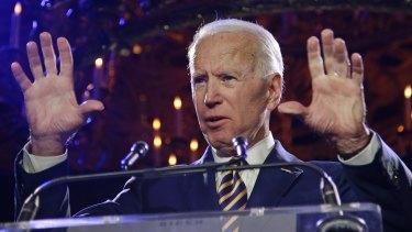 Former vice-president Joe Biden last week.