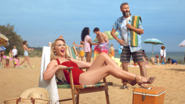 Kylie Minogue and comedian Adam Hills star in Tourism Australia's new $15 million tourism campaign that is designed to attract more British tourists.