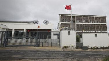 The sprawling Chinese embassy in Port Vila, Vanuatu.