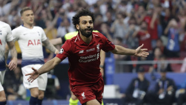 Redemption: Mohamed Salah, who went off injured 12 months ago, scored the opening goal.