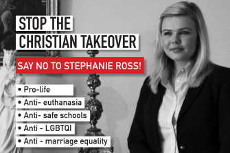 A political pamphlet designed to promote Stephanie Ross as Christian by pretending to decry her beliefs.