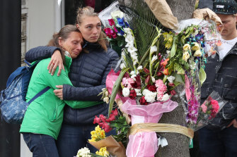 Gitta Scheenhouwer's family last year visited the spot on Chapel Street where she was killed.