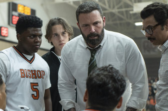 Ben Affleck (centre) as Jack Cunningham in The Way Back, directed by Gavin O'Connor.