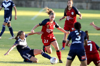 Viewers had a surprise interruption during Friday night's telecast of Adelaide United's W-League clash with Melbourne Victory.