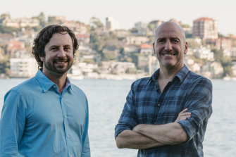 Paul Franklin (right), with Eureka Productions co-founder and co-CEO Chris Culvenor.