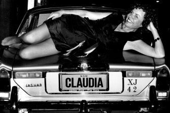 """My heroine's bravado has deserted me: Marele Day at the launch of """"Chinese Boxes"""", a Claudia Valentine novel,  in 1990."""