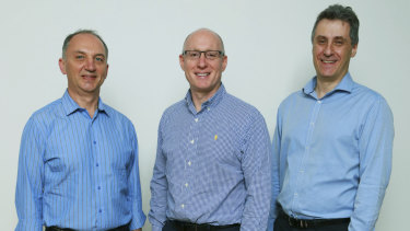 EFTsure co-founders Mike Kontorovich, Ian Mirels and Mark Chazan.