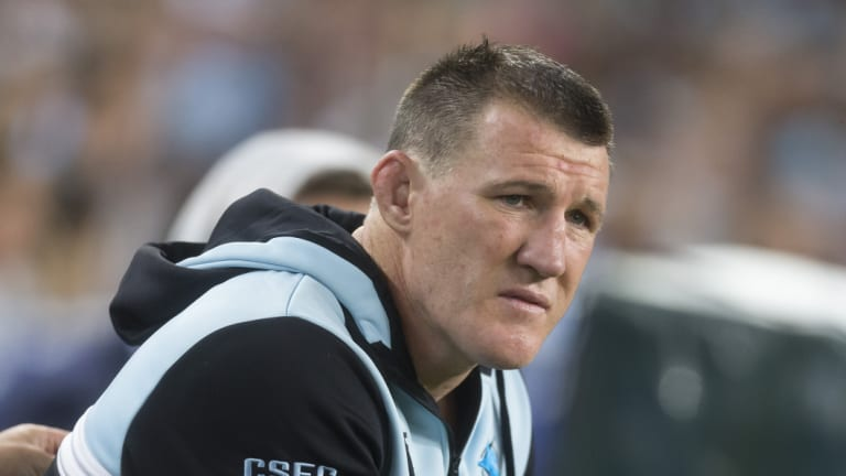 Up in the air: Paul Gallen may not be fit for next Friday's grand final qualifier.