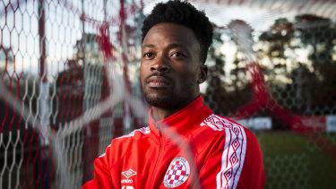 Canberra FC striker Kofi Danning is eyeing a return to the A-League.