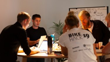 More than 120 tech experts, students, mentors and start-ups in Brisbane attended BikeHack.