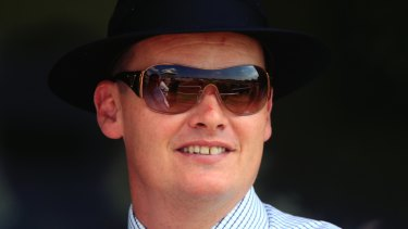 Come on down: Trainer Joe Pride has a good hand at Nowra today.