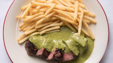 Steak frites at Entrecote.