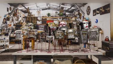 Suzanne Archer's Mutter Mask installation, 2017-2019.