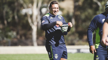 Josh Papalii has a smile on his face again.