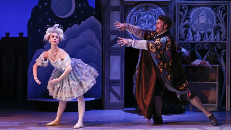 The Australian Ballet's <i>Storytime Ballet: Coppélia </i>with Dayne Boothe, left,  and Sean McGrath.